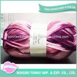 Teste padrão de confeção de malhas da camisola do bebê da peúga do Crochet do algodão do fio de 4 dobras
