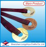 Kundenspezifische Großhandelsmedaillen-Kanada-Hockey-Medaillen überzogen Goldsilberne Bronze