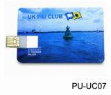 O costume do ODM imprimiu movimentações relativas à promoção do polegar do estilo do cartão de crédito das movimentações 8GB do USB