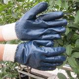 Gant entièrement plongé bleu Chine de travail de gants de nitriles