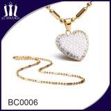 Le plus défunt long talon de fantaisie de bille d'or d'acier inoxydable enchaîne le collier