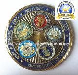 &Gold Platingcountry 주문을 받아서 만들어진 국제적인 동전 (MJ 동전 011)