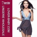 Vêtements de nuit de femme de sous-vêtements de lingerie de Babydoll (L28012-1)
