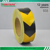 Sh509 de AcrylSticker die van de Vloer van de Lijm Gele Weerspiegelende Band Somitape adverteren