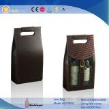 Bolso de encargo plegable del vino de la tela barata doble de la botella (2310R34)