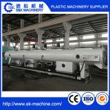 Linha gêmea da tubulação do produto da extrusora de parafuso do PVC do plástico