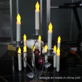 Gelbes Flameless Candle Holder Metal Pillar für Decoration