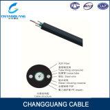 Faisceau de fibre optique extérieur blindé léger du câble GYXTW 2-12 d'Unitube avec 2 fils d'acier parallèles pour l'antenne de conduit