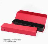 Красные коробки ювелирных изделий бумаги перлы
