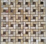 テレビの背景の壁のタイル(FYSSC101)のための水晶混合された性質の大理石の石のモザイク