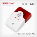 Draadloze Sirene met Lichte Sirene van de Stroboscoop van het Systeem van het Alarm van de Flits de Draadloze/Draadloze Sirene 120dB/BinnenSirene voor 315MHz/433MHz