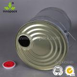 Ведро металла с Spout 25L масла Закрывать-Отливает барабанчик в форму с кнопкой на крышке