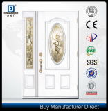ハイエンド標準的なクラフトの省エネの別荘の入口の木製のガラス繊維のドア