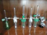 Flujómetro del oxígeno del estruendo con la botella del humectador