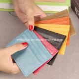 Vrai support par la carte de crédit en cuir de couleurs multi