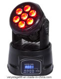7X10W RGBW 4 en 1 LED Moving Head Wash Lighting