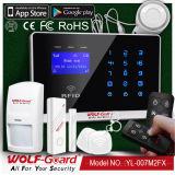 Allarme senza fili di obbligazione domestica dello scassinatore di WiFi GSM