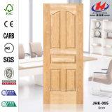 固体木EVのカシのHDFによって形成されるドアの皮
