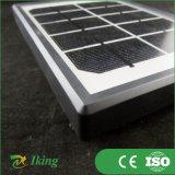 mono comitato solare 2W5V con il blocco per grafici di plastica che addebita l'indicatore luminoso