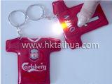 PVC impreso insignia promocional LED Keychain con THK-013