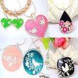 Collar vendedor caliente del diseño de la joyería del corazón de Alibaba con los amantes del beso