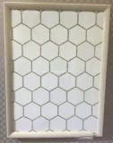 Mosaico do hexágono e telhas de mármore brancos do mosaico