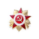 Pin dorato del risvolto dello smalto, distintivo organizzativo (GZHY-LP-008)