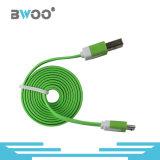 이동 전화를 위한 혼합 색깔 TPE 책임 USB 데이터 케이블