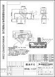 De Schakelaar van de Dia van de fabrikant SMD met Speld 3 (msk-1127)
