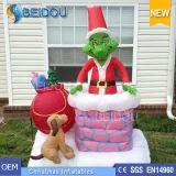 Natale gonfiabile esterno gigante Grinch di Grinch Inflatables di natale da vendere