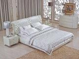 가정 침대 머리를 가진 가구에 의하여 덮개를 씌우는 가죽 또는 직물 연약한 침대