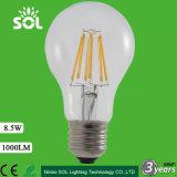 2016 buen precio A60 4W 6W 8W LED filamento de la bombilla