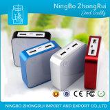 Batería de aluminio de la potencia cargador de batería portable micro del USB de 4000 mAh para la salvaguardia para el iPod del iPhone 5