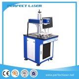 máquina de fibra óptica da marcação do laser 3D para o plástico do aço do metal