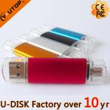 Disque fait sur commande chaud de flash USB de promotion d'affaires en aluminium (YT-1128)