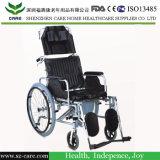 عال ظهر طية [كرومد] فولاذ [بو] بلاستيكيّة [كمّود] كرسي تثبيت مع عجلات