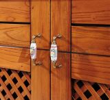 アメリカの新しいデザイン純木の食器棚