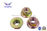 Acier de M10/Gr8/Carbon/écrou de blocage Hex de bride avec le zinc de couleur