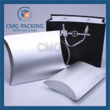 光沢がある銀製ペーパー枕ボックス(CMG-PGB-021)