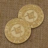 2015 monedas masónicas del desafío del metal de encargo de la moneda para el recuerdo