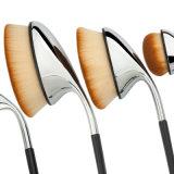 Cepillo cosmético oval del maquillaje de Siver del nuevo de la llegada 9PCS del cepillo de dientes de la dimensión de una variable del golf del estilo del maquillaje de cepillo del conjunto del polvo cepillo de la fundación