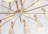 Канделябр светильника 8lights настолько чудесной конструкции Jianer новый самомоднейший вися светлый, белые тени металла картины