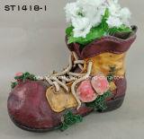 Плантатор/баки ботинка орнамента сада смолаы старые