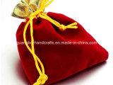 Petite poche faite sur commande de sac de cordon de velours