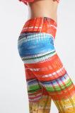 Полиэфир женщин 92 8 гетры гимнастики сублимации Spandex изготовленный на заказ