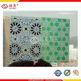 Painéis de teto plásticos gravados PC do policarbonato da folha (YM-PC-020)
