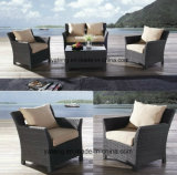 O sofá ao ar livre barato da mobília do jardim do Sell inteiro ajustou-se com único assento &Double (YT477-1)