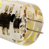置換のためのG4 DC12VのカプセルLEDのケイ酸ゲルの球根ライト