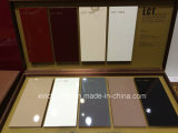 最もよい販売新しいデザイン高品質の光沢度の高いドア(薄い灰色カラー)が付いている安い食器棚
