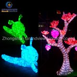 Diodo emissor de luz ao ar livre Christmas Lights Glass Christmas Ornament de Zoo Animals 3D Insect Beetle Illage